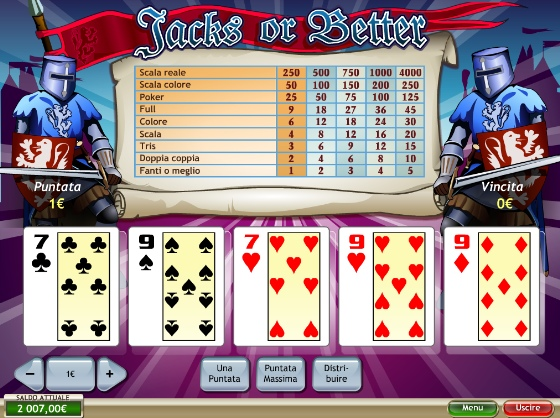 video poker classico